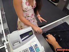 Sexy Ex dominatrix pawns her twat and fucked by pawn keeper
