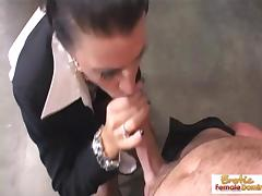 Cougar boss wants his cock in her tight asshole