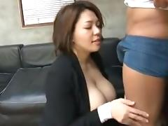 Japanese bitch humps and gets a creampie at the end