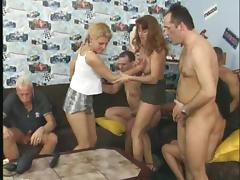 Cum hungry blonde woman receives big cumshots in her mouth