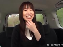 Busty Japanese amateur gets fondled in the car then fucked till orgasm