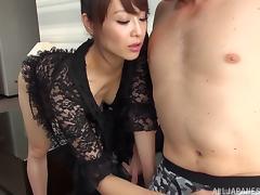 Japanese Mature, Asian, Close Up, Couple, Cowgirl, Handjob