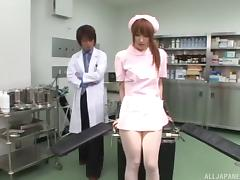 Slutty nurse in soft pantyhose fucked by a doctor