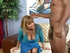 A horny white MILF goes across town to get some black dick