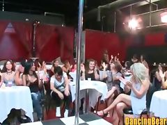 Footage of Ladies Night at the Stripclub