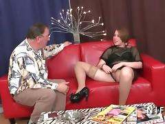 Anal casting couch of a chubby french slut banged by old man