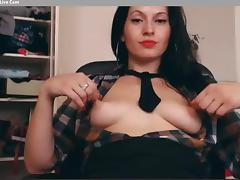 Open Shirt Nipple Play (Short)