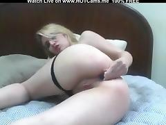 Hot Blonde Teen Small Vibro In Her Ass