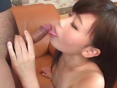 Yuuko sucks cock and gets a facial