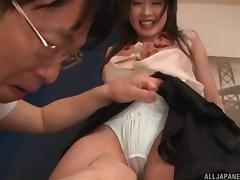 Cunning Japanese teacher is horny to reject this hot fucking request from her collegue