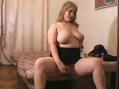 Horny fat BBW girl GF Masturbating in the morning