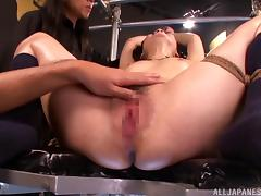 Hardcore bondage sex with a slutty Japanese submissive