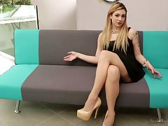 Hot dresses and heels on tasty ladies having lesbian sex