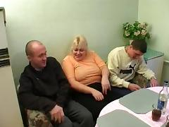 Mom and Boy, BBW, Mature, Old, Pussy, Russian