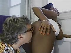 Busty ebony girls fucking a lucky old men