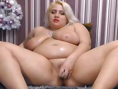 Eros & Music - BBW Blonde Masturbating