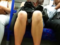 Tube upskirt, hot afternoon