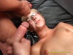Bukkake, Bukkake, Cumshot, Facial, German, Glasses