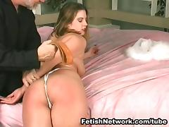 Great ass whipping on the bed
