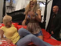 Blondes bare their big tits and tight cunts to get pounded
