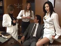 Japanese, Asian, Foursome, Fucking, Japanese, Office