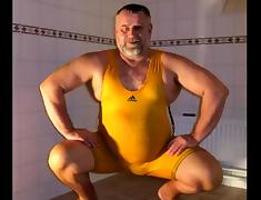 Presenting my wrestling singlets