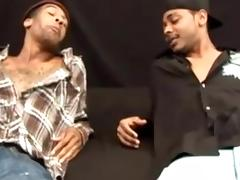 Nasty black gay is making love with his black lover