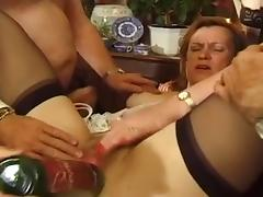 British, British, Mature, Old, Stockings, Older