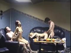 Young girls in the sauna earn money
