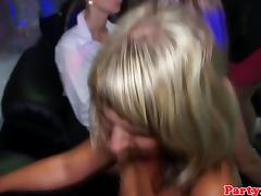 Amateur babe fucks stripper in real club