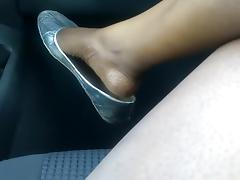 Ebony shoe play dangle