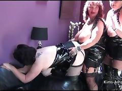 Busty British matures in PVC