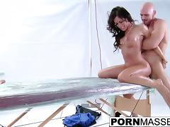 Capri loves to fuck and gets creampie after horny massage