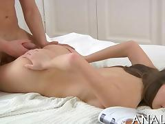 Raunchy anal orgasms for babe