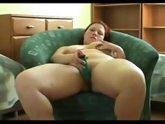 Horny fat BBW Ex GF masturbating her wet creamy Pussy