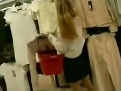 Such a sexy  immature blowing in the changing room