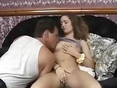 British blonde babe gets fucked by two guys