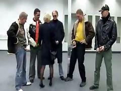 German, Aged, Banging, Cougar, European, Gangbang