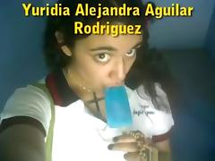 Cute latina girl shows off her naked body to her bf on skype