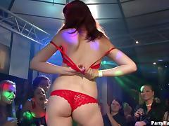 Wild European hotties going crazy in the nightclub