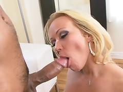 Curvy blonde MILF gets fucked by a hard Asian cock