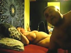 Fat mature couple has oral and missionary sex