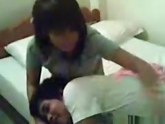 Cute asian girl has a missionary sex experiment with her bf and lets a friend capture it with his cellphone