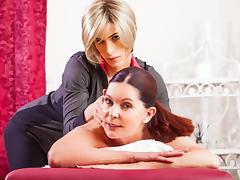 Magdalene St. Michaels & Nina Lawless in TS Massage Video