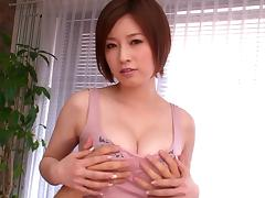 Nerdy hot Japanese girl in glasses enjoys some stiff dick