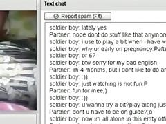 Pregnant girl has cybersex with a stranger on chat roulette