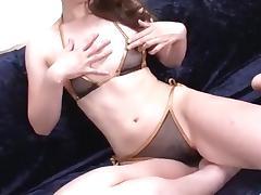 Jyunko Hayama amazing shaved pussy solo play