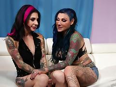 Colorful tattoos cover the bodies of these punk porn sluts