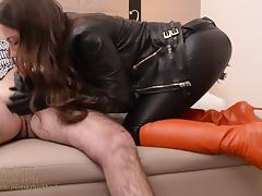 Leather, Amateur, Femdom, Fucking, Leather