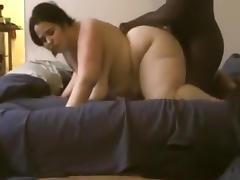 White bbw gets her big booty blacked !!!
